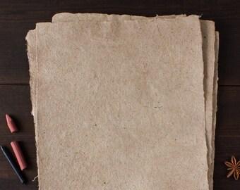 Watermark paper Deckle edge paper Mulberry paper Rustic wedding paper Homemade paper Decorative paper (code#17)