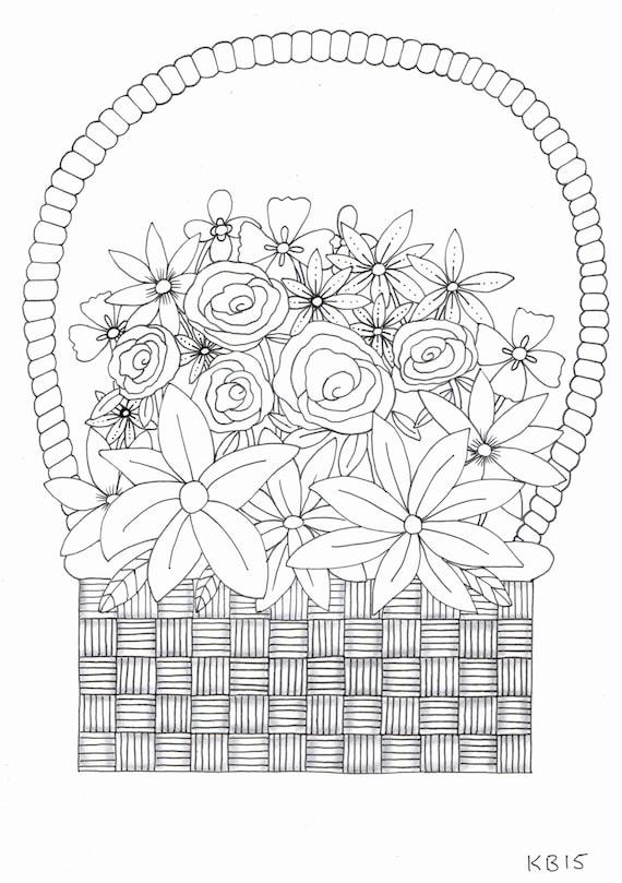 корзина цветов раскраска распечатать шейки бедра может