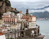 Italy photography, large wall art, Amalfi coast art, canvas art, colorful wall art, nautical decor, beach home art, cottage style art,