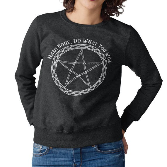 Pagan Hoodie Unisex An It Harm None Do What Ye Will Witchcraft Spiritual Druid