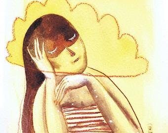 "Original drawing ""Pensive morning"""
