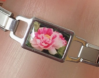 Missouri State Flower Hawthorn Photo Italian Charm Bracelet Link