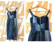 Corset dress Denim dress No waste Vegan Maxi dress Sleeveless dress Pencil skirt Long dress Cotton dress Patchwork Boho Hippie Steampunk