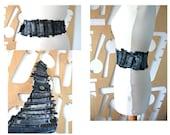 Handmade belt Wide belt Corset belt Boho belt Hippie Steampunk Patchwork Sash belt Obi belt Waist cincher Festival Vintage jeans Denim Boho