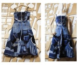 Corset dress Denim dress Maxi dress Boho dress Full skirt Sleeveless dress Long dress Patchwork Boho Hippie dress Steampunk
