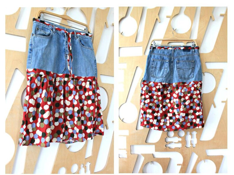 Hippie skirt Boho skirt Denim skirt Gypsy skirt Denim long skirt A line skirt Denim clothing Boho Hippie Festival skirt Folk Vintage jeans