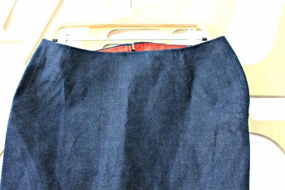 Blue Denim Mini Skirt Women Summer Blue Jeans Skirt Cotton Hippie Grunge Bohemian Boho Western Summer Skirt Size Medium