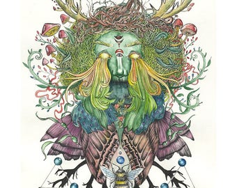 Green Man (Print)