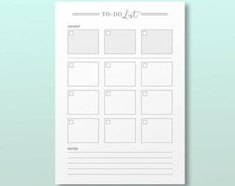 To do list, Printable Planner Inserts, Productivity To do Notes, Minimal To-do Log, Printable Planner Page, Daily Productivity Idea Notepad