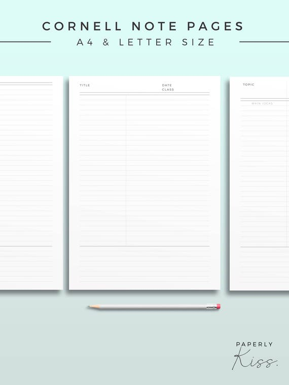 image about Printable Note Pages referred to as Cornell Take note Template, Printable Take note Inserts, Efficiency Exploration Notice, Minimum Research Magazine, Printable Planner Web site, Productiveness web site