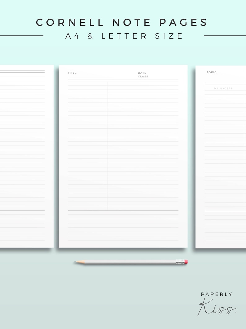 picture about Cornell Notes Template Printable named Cornell Be aware Template, Printable Take note Inserts, Efficiency Analysis Be aware, Bare minimum Examine Magazine, Printable Planner Web site, Efficiency web page