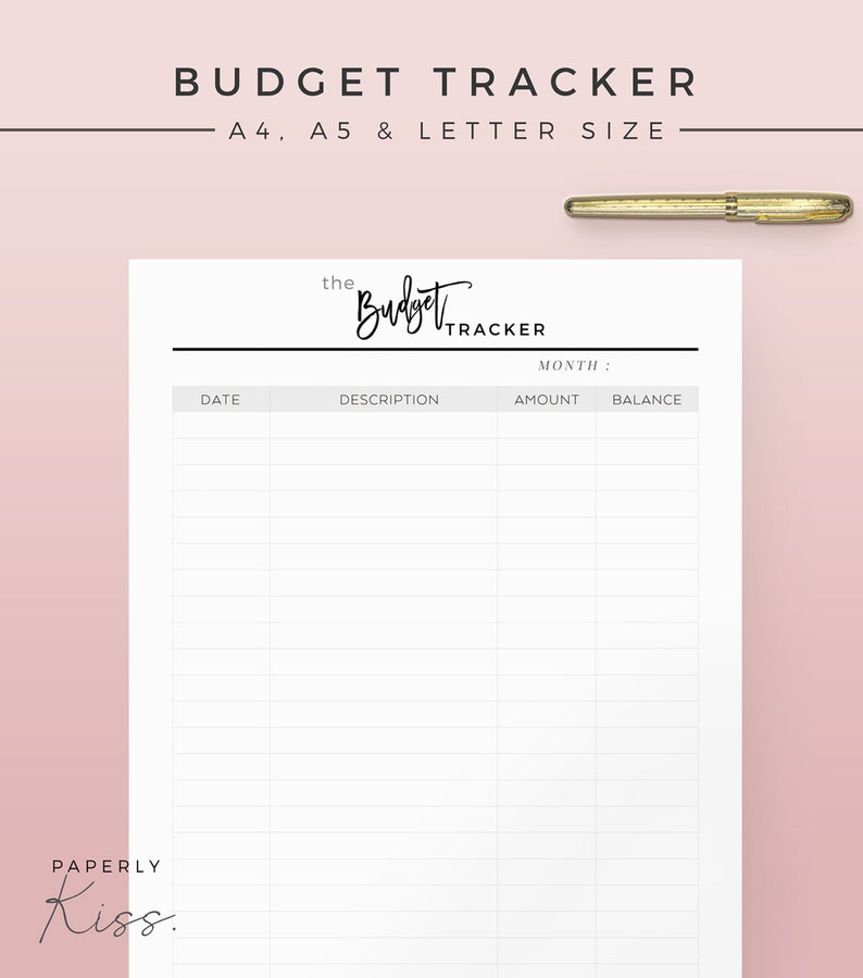Monthly Budget Tracker Printable Planner Inserts Modern image 0
