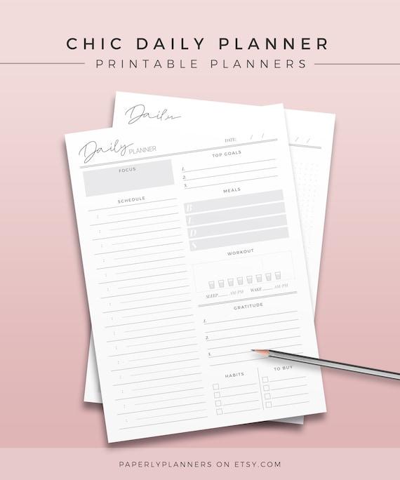 DO1P MO2P Junior 2020 Half Letter Daily Planner Inserts Refill Bundle w//Dividers Custom Printed Minimal Design Maximum Productivity