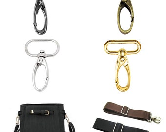 Pet Collars and Bag Accessories Lightweight Durable Fasteners Strap Pack of 2 Trimming Shop 25mm Trigger Snap Hook Bronze Buckle for Webbing Straps Backpack