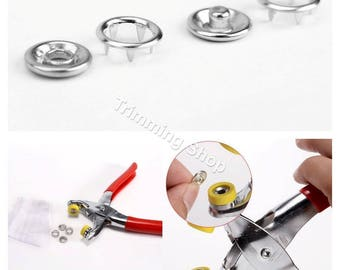 9.5mm Press Studs Prong Ring Snap Fasteners Poppers Dummy Clips Baby Grow 120pcs
