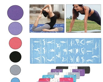 Yoga Exercise Mat Foam 6mm Non-Slip Pilates Gym Mandala Pattern With Strap