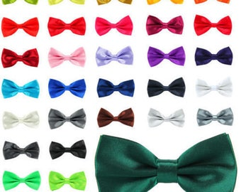 pretied bow tie montreal bow tie satin bow groomsmen bow tie periwinkle bow tie Pale blue bow tie adjustable bow tie shiny bow tie
