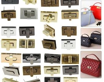 Blue Stones Egg Shape Bag Twist Lock 4 Color Small Oval Handbags Case Alloy Catch Buckle DIY