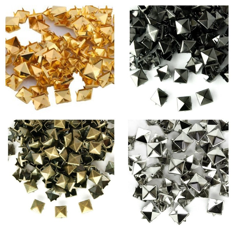 Large Pyramid Punk Rock Gothic Stud For Leather Crafting Cloth Shoe Belt