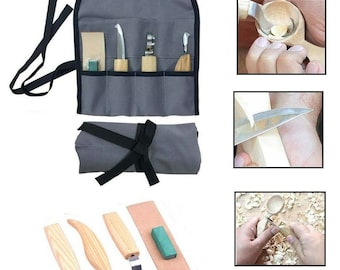 5pcs/set Wood Carving Knife Kit Woodworking DIY Cutting Tools for Craft Project