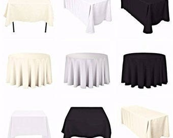 Round Table Cloth Cover Cotton Wedding Birthday Party Dining Decoration 70  Inch