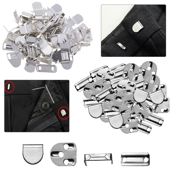 10 Sets Sewing Hooks and Eye Closures for Trousers and Skirt Sliver