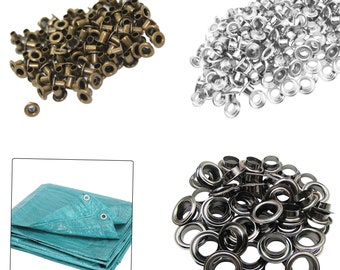 2mm-12mm Brass Eyelets Grommets With Washers For Clothing, Leathercrafts, Banners