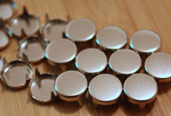100 x 5mm Silver Round Studs Rivets Leather Craft Punk Studs Goth spike Bag