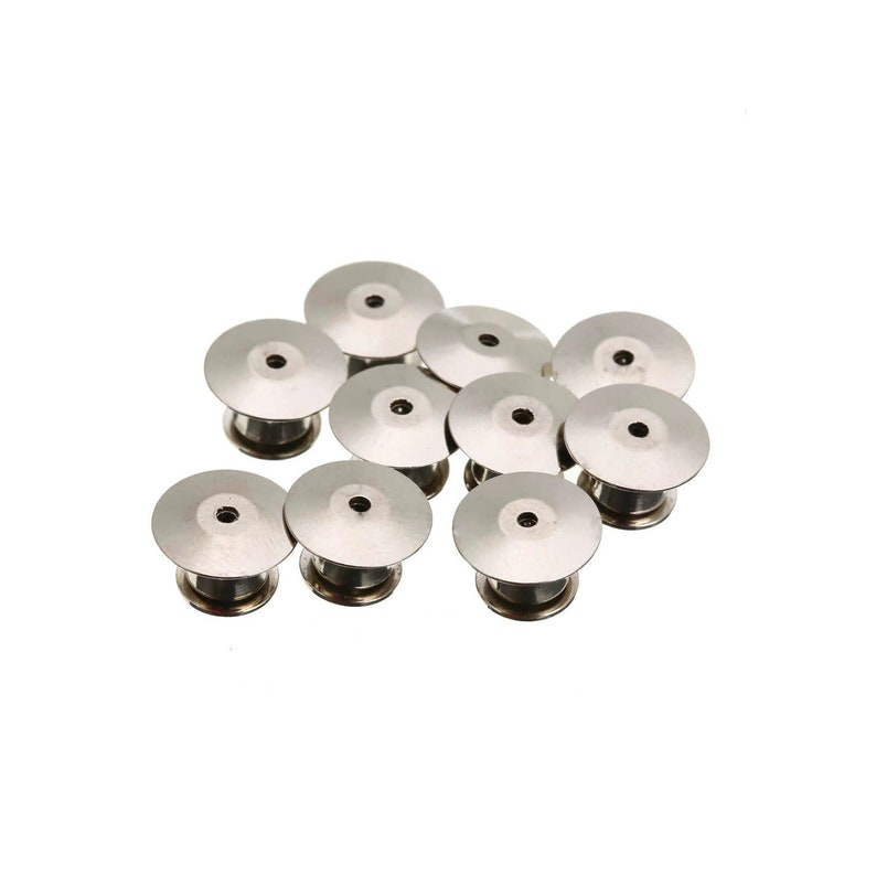 Secure Pin Back Arts /& Crafts 10mm x 7mm Locking Clutch Silver Locking Pin Backs Badge Books