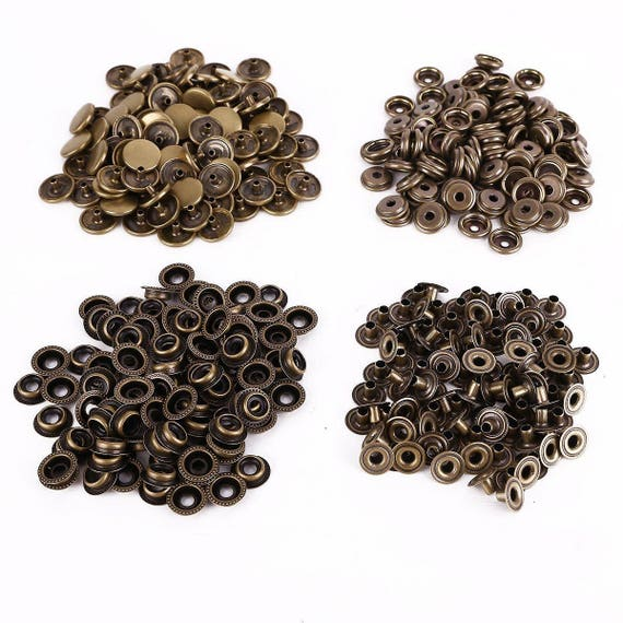 Heavy duty Poppers Snap Fasteners Press Stud Sewing Rivet Leather Crafts Clothes