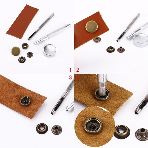 Trimming Shop 10 Sets Wood to Fabric Press Studs Refill Pack with Screw Part 3 Parts