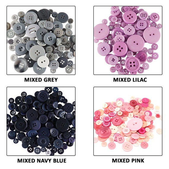 Bright Mixed Buttons Resin Sewing Card Making Crafts Knitting Crochet 100gm
