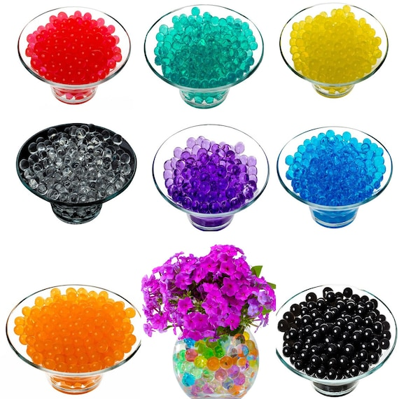 10//50 bag Water Beads Pearl Shaped Crystal Soil Water Beads Wedding Home Decor