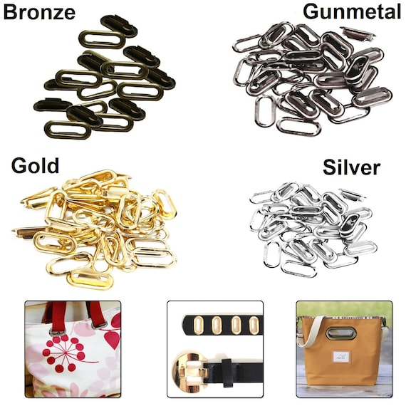 30mm Brass Grommets Silver Eyelets Washers Rust Proof Fabric Curtains Arts