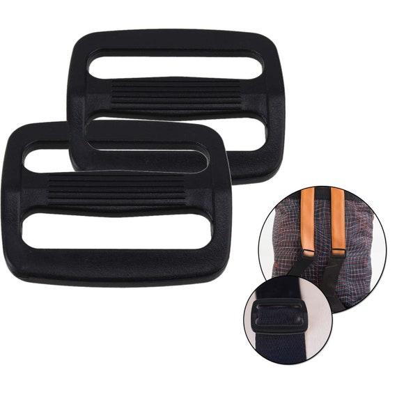 2pcs Plastic Webbing Slider Tri-Glide Adjust Buckle Camping Sport Straps Buttons