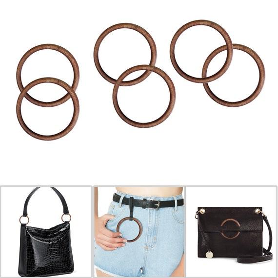 45mm Acrylic Brown O Ring Buckles for Handbag Backpack Pet Collar Bag Strap DIY
