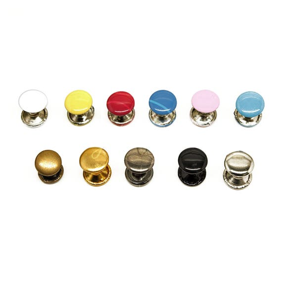 100 x Single Cap Tubular Rivets Studs Brass Rust Proof for Leather craft 8-10mm