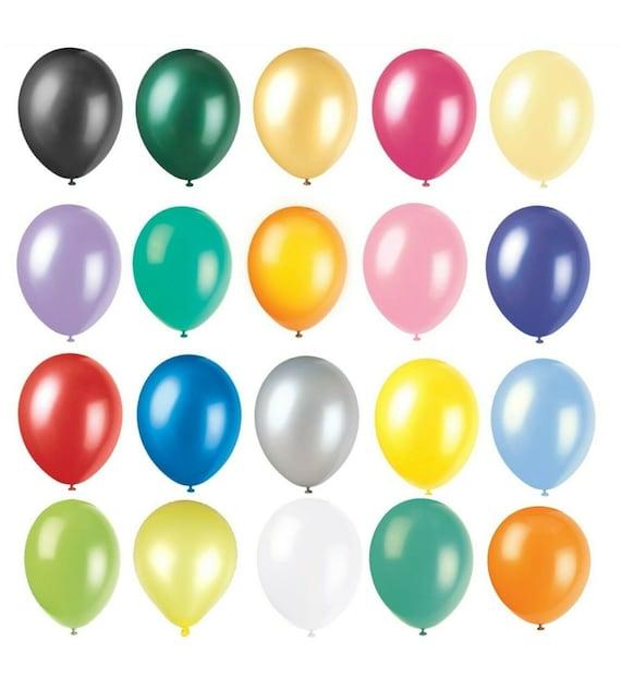 100 Llano Balons Ballons Helio /& Aire Globos fiesta de cumpleaños bodas de calidad