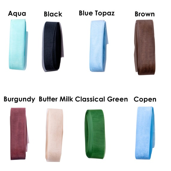 "Quality Satin Edged Organza Ribbon 1 5//8/"" 40mm wide 17 Colours Choice of lengths"