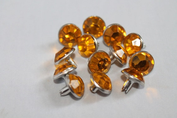 Many Different Acrylic Colours 50 x 10mm Diamante Rivets for Leather Craft