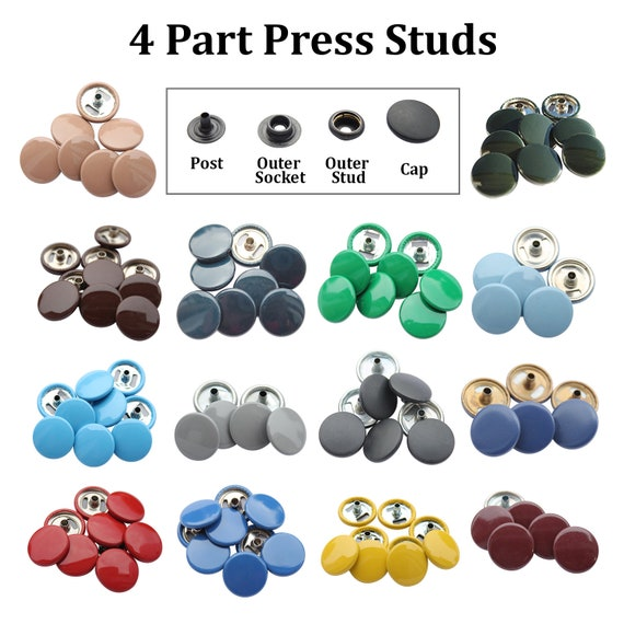50 Sets Jeans Buttons Popper Press Stud Fasteners Buttons DIY Sewing Tools Kit