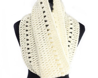 Crochet Scarf Pattern, Crochet Cowl with Puff Stitch, Peek a Boo Puff Cowl Pattern, Crochet Neck Warmer, Crochet Snood, Instant Download