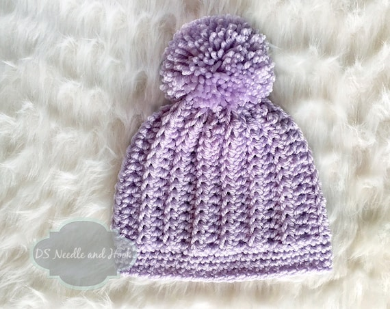 Crochet Hat Pattern Chunky Ribbed Crochet Beanie Pattern Etsy