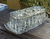 American Prescut Covered Butter Dish by Anchor Hocking. Circa 1960 39 s