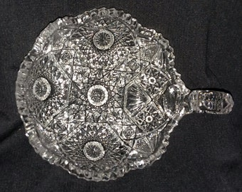 """Nucut """"Nappy"""" Imperial Glass Company candy dish."""