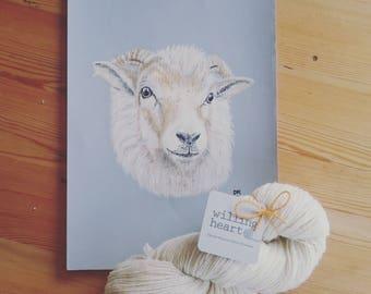 100g Portland Wool spun