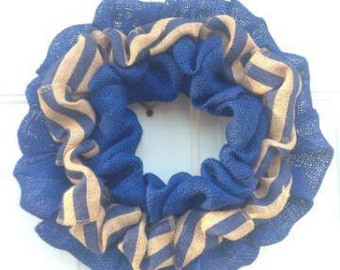 Beautiful handmade burlap wreath.