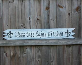 Bless this Cajun Kitchen Sign