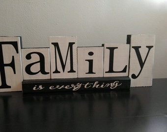 Family is everything wooden Decor