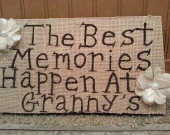 The Best Memories Sign